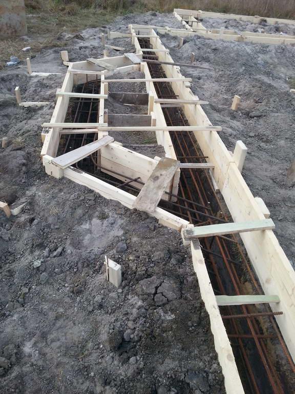 Строительство фундамента в Елкино