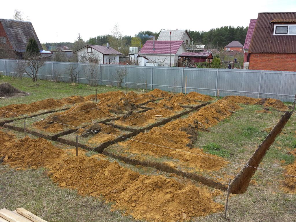 Фундамент дом и летняя кухня Фосфоритный