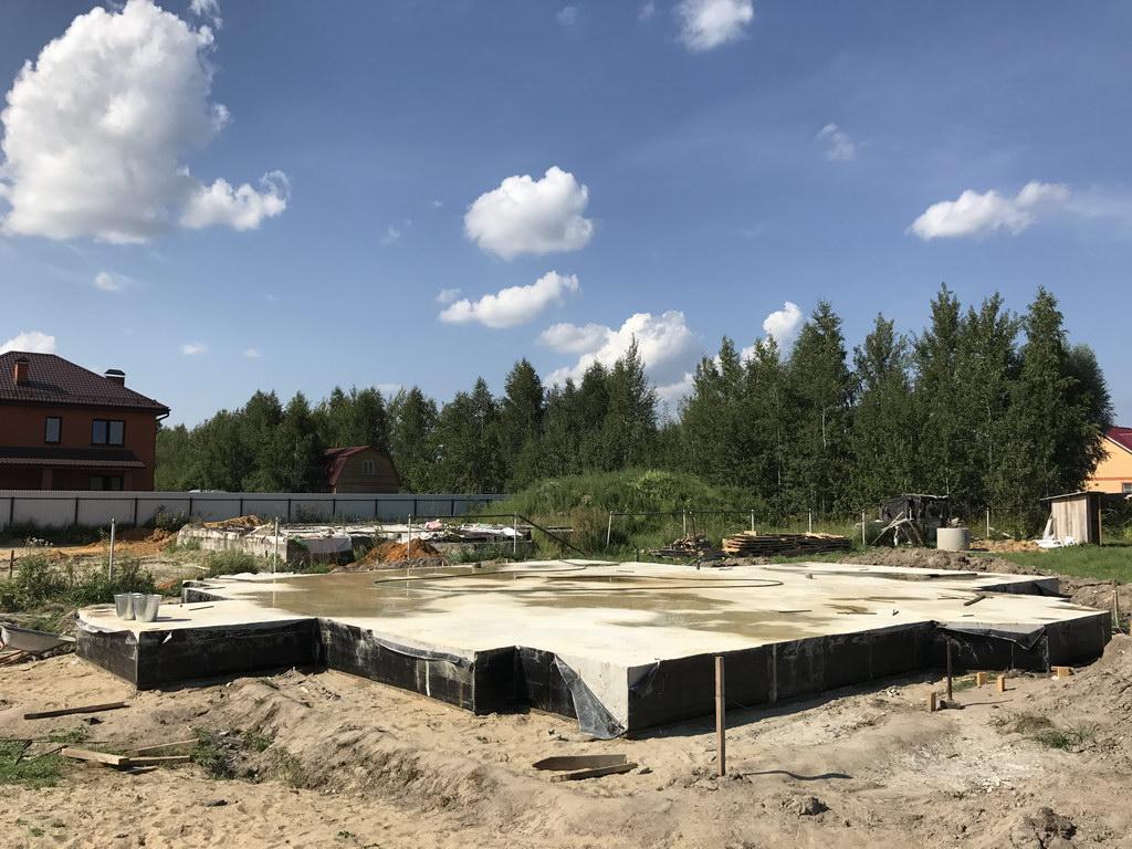 Фундамент плита утепленная Белозерский михалево