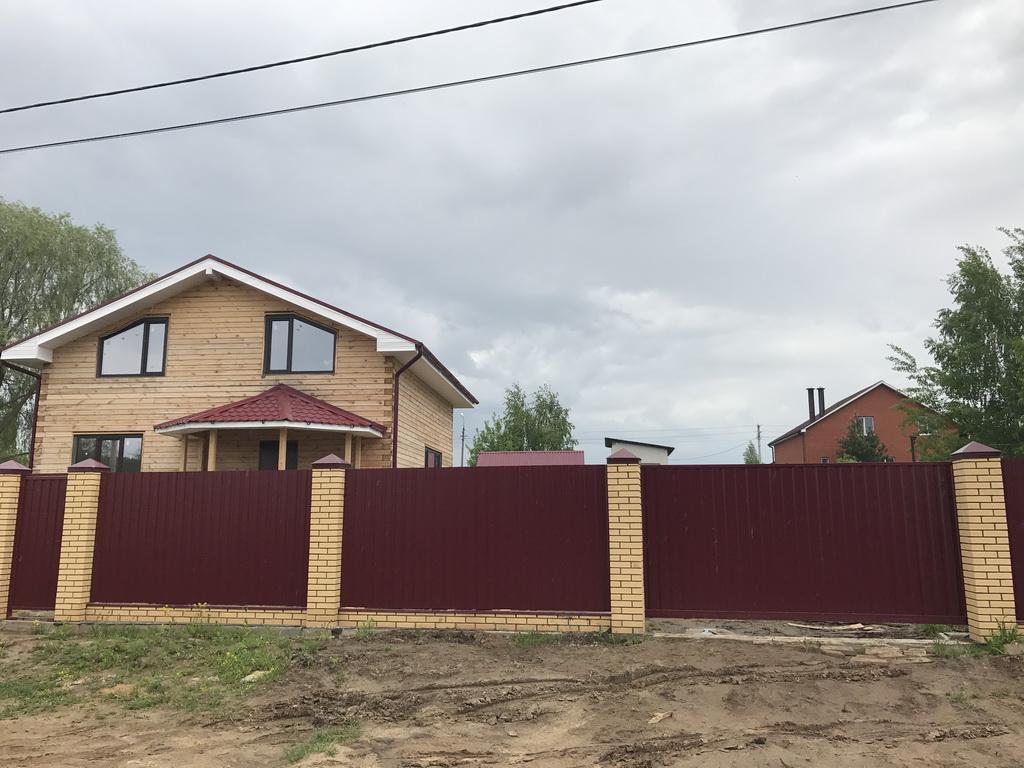 Забор кирпичный Новоселки