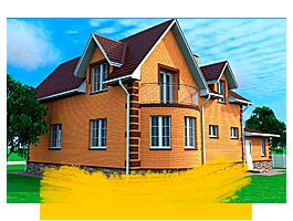 Дом из кирпича заказать строительство в ВосДомСтрой